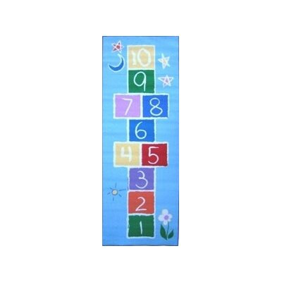 Fun Rugs Fun Time Primary Hopscotch Area Rug