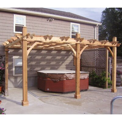 Outdoor Living Today Breeze Attached 12 Ft. W x 16 Ft. D Pergola