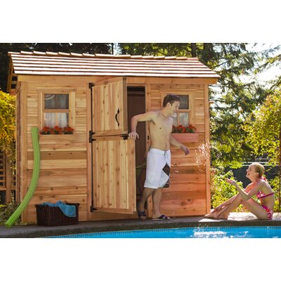 Cabana 9 Ft. W x 6 Ft. D Wood Garden Shed   Wayfair on Outdoor Living Today Cabana id=11831