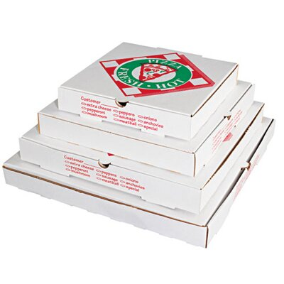 """PIZZA BOX 14"""" Takeout Pizza Container in White"""