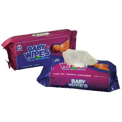 Royal Paper Baby Wipes Refill Pack with Scented in White  - 80/Pack