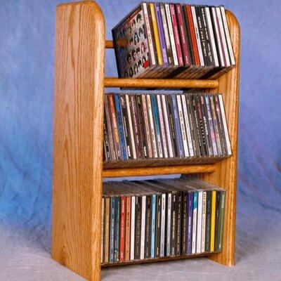 300 Series 78 CD Dowel Multimedia Tabletop Storage Rack by Wood Shed