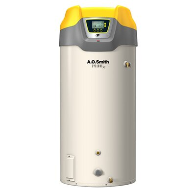 A.O. Smith Commercial Tank Type Water Heater Nat Gas 130 Gal Cyclone Xi 499,900 BTU Input High Efficiency