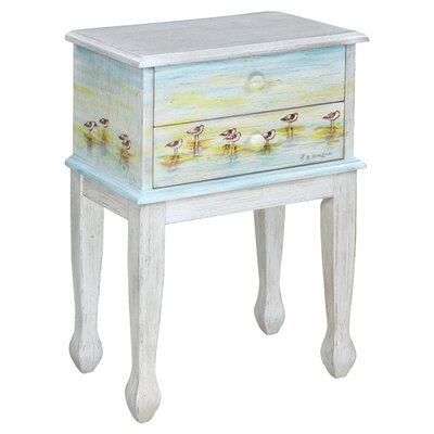 Gail's Accents Shoreline Betsy's Sandpipers End Table