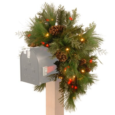 Pre-Lit Pine Mailbox Swag