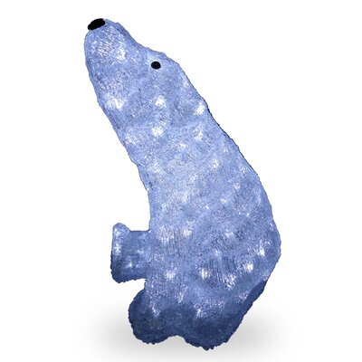 Acrylic Sitting Bear Christmas Decoration by National Tree Co.