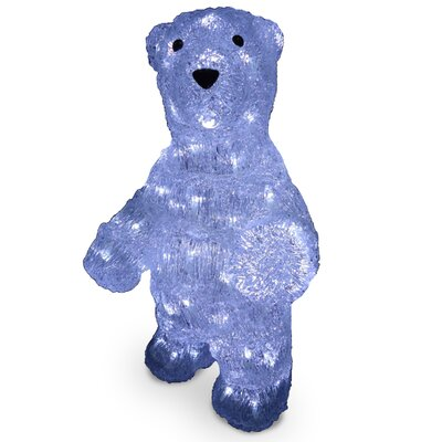 Acrylic Standing Bear Christmas Decoration by National Tree Co.