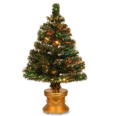 National Tree Co. Fiber Optics Radiance Fireworks 4' Green Artificial Christmas Tree with Base
