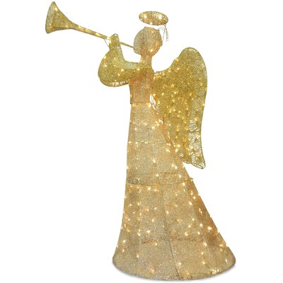 Angel with LED Lights Christmas Decoration by National Tree Co.