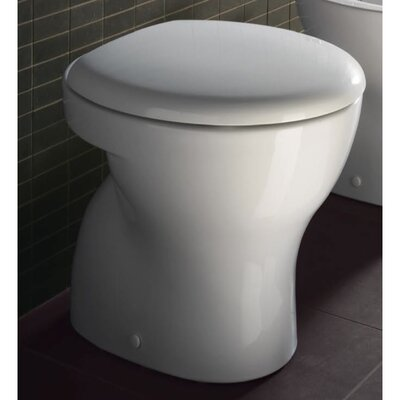 GSI Collection City Contemporary Ceramic Floor Mounted Round 1 Piece Toilet