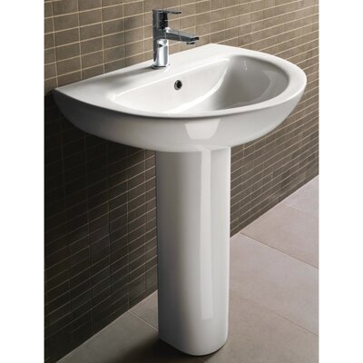 GSI Collection City Modern Curved Pedestal Sink