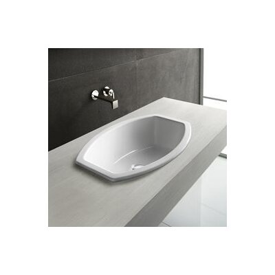 Losagna Oval Stylish Ceramic Self Rimming Bathroom Sink without Overflow by GSI Collection