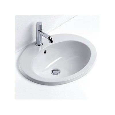 Panorama Contemporary Oval Self-Rimming Bathroom Sink by GSI Collection