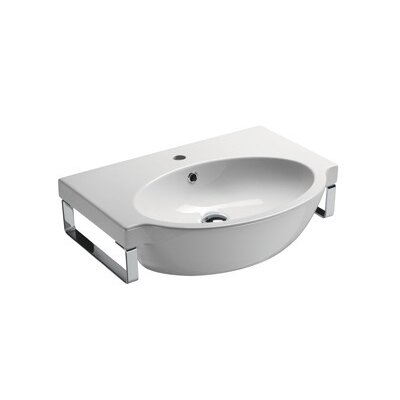 GSI Collection Panorama Modern Curved Wall Mounted Bathroom Sink