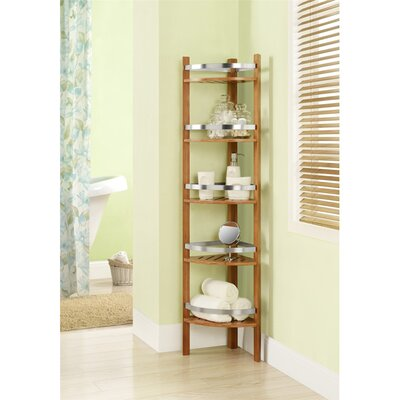 Bamboo Bathroom Corner Tower by Altra