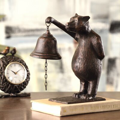 Bear Table Bell Figurine by SPI Home