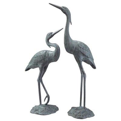 Garden Heron Pair Statue by SPI Home