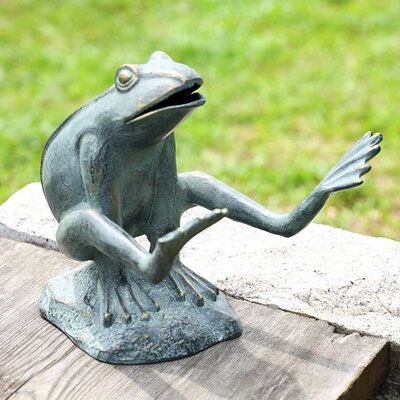 Leaping Garden Frog Statue by SPI Home