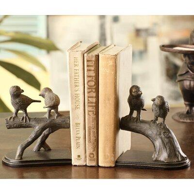 SPI Home Bird on Branch Book Ends