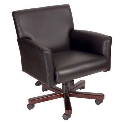 Boss Office Products Caressoft Mid-Back Conference Chair