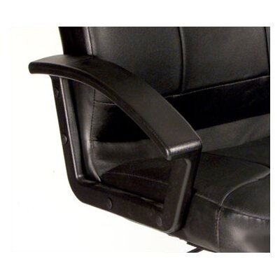 Boss Office Products High-Back Leather Executive Chair with Lumbar Support