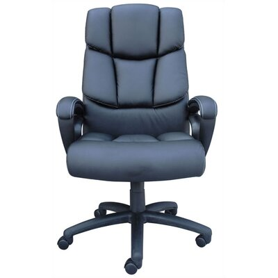 Boss Office Products Adjustable High-Back Leather Executive Chair