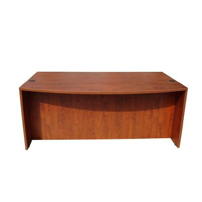 Boss Office Products Wood Bow Front Executive Desk Shell