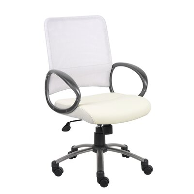 Boss Office Products Mid-Back Mesh Office Chair with Loop Arms