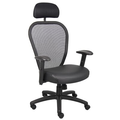 Boss Office Products High-Back Professional Managers Mesh Chair with Headrest and Arms