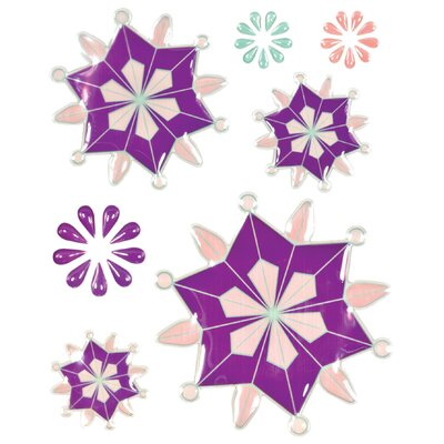 Alvin and Co. Colorstories Epoxy Snowflower Stickers