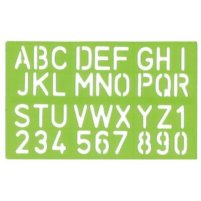Alvin and Co. Lettering Stencil Template Set