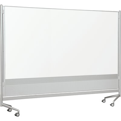 Best-Rite® D.O.C. Partition Dura-Rite Mobile Free Standing Whiteboard, 6' x 8'