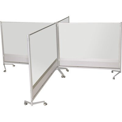Best-Rite® D.O.C. Partition Mobile Free Standing Whiteboard, 6' x 4'