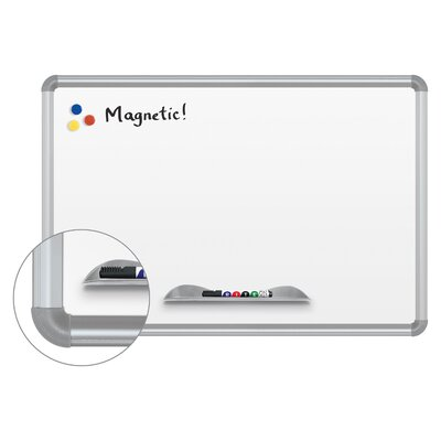 Best-Rite® Green-Rite Presidential Frame Magnetic Wall Mounted Whiteboard