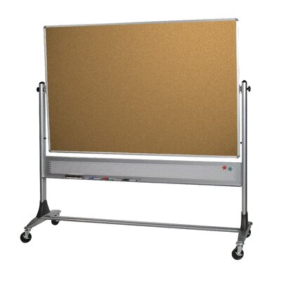 Best-Rite® Two Sided Free Standing Reversible Bulletin Board, 3' x 3'