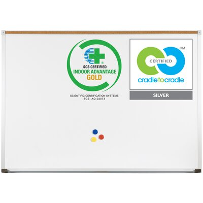 Best-Rite® Green-Rite Deluxe Wall Mounted Whiteboard