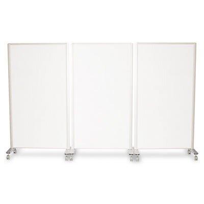 """Best-Rite® Lumina Room Dividers, 39.5"""" W x 72"""" H, Aluminum"""