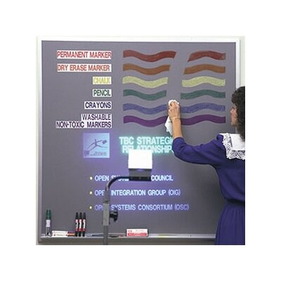 Best-Rite® Lightning Wall Mounted Magnetic Whiteboard, 4' x 4'