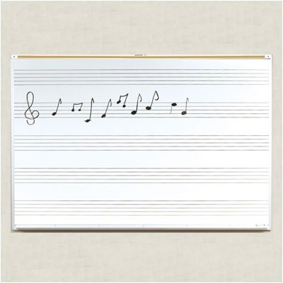 Best-Rite® Lifetime Music Graphic Wall Mounted Whiteboard