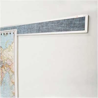 Best-Rite® Vinyl Covered Display Rails - Aluminum Frame