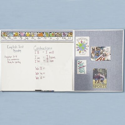 Best-Rite® Combo-Rite Type E-Reverse EL Modular Combination Wall Mounted Whiteboard