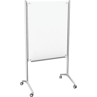 Best-Rite® Enlighten Mobile Free Standing Glass Board, 4' x 3'