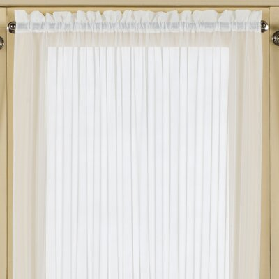 Batiste Half Rod Pocket Door Single Curtain Panel Product Photo