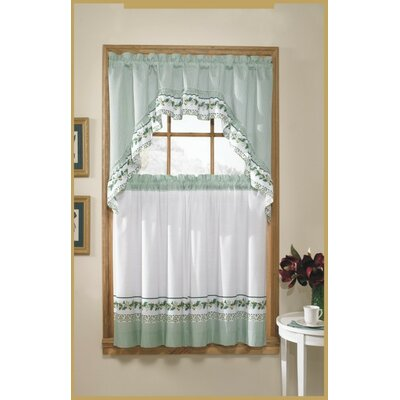 "United Curtain Co. 60"" Valance and Tier Set"