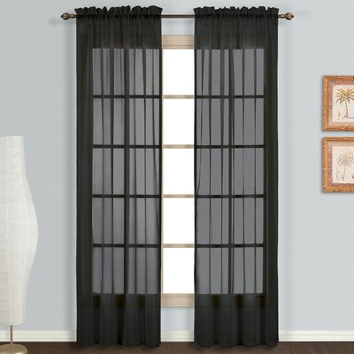 Monte Carlo Voile Rod Pocket Curtain Panels (Set of 2) Product Photo