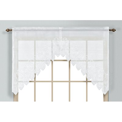 "Valerie Rod Pocket Swag 2 Piece 52"" Curtain Valance Set Product Photo"