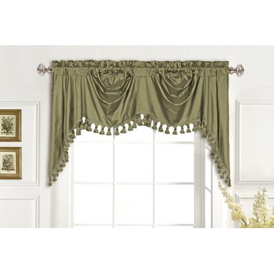 "United Curtain Co. Dupioni Silk Rod Pocket Swag 108"" Curtain Valance"