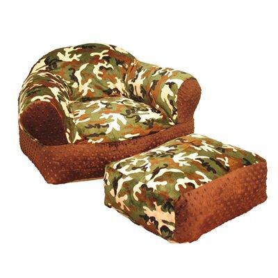 Camoflage Kid's Club Chair by Ozark Mountain Kids