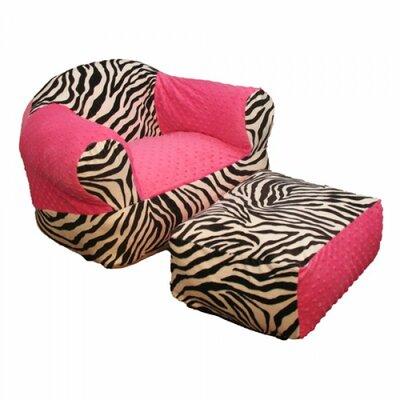 Ozark mountain kids hot pink zebra kid s club chair amp reviews