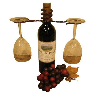 Metrotex Designs 2 Stem Holder Wine Bottle Topper